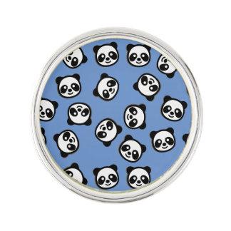 Cute Black and White Panda Cartoon Pattern Lapel Pin