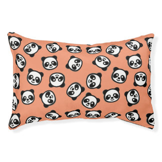 Cute Black and White Panda Cartoon Pattern Pet Bed