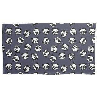 Cute Black and White Panda Cartoon Pattern Pillowcase