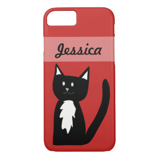 Cute Black and White Tuxedo Cat Customized iPhone 8/7 Case