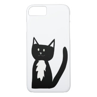 Cute Black and White Tuxedo Cat Phone Case