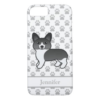 Cute Black And White Welsh Corgi Pembroke & Name iPhone 8/7 Case