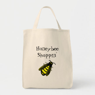 Cute Black and Yellow Honeybee with Fun Text Tote Bag