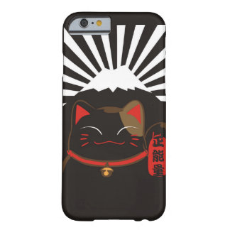 Cute Black Background Lucky Cat Pattern for Iphone Barely There iPhone 6 Case