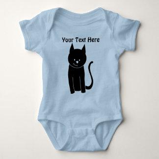 Cute Black Cat Baby Bodysuit