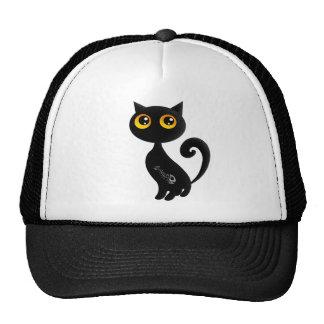 Cute Black Cat Mesh Hat