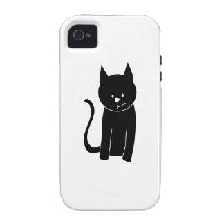 Cute Black Cat iPhone 4/4S Cover
