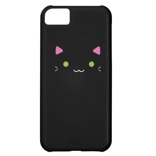 Cute Black Cat iPhone 5C Cases