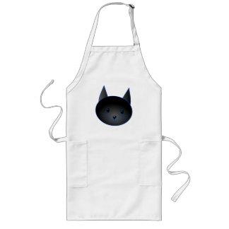 Cute Black Cat. Cat Cartoon illustration. Aprons