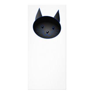 Cute Black Cat. Cat Cartoon illustration. Personalized Rack Card