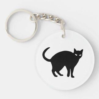 Cute Black Cat Halloween Keychain