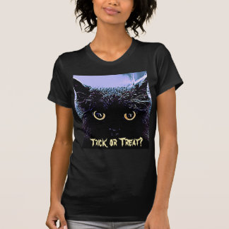 Cute Black Cat Halloween Trick or Treat T-Shirt
