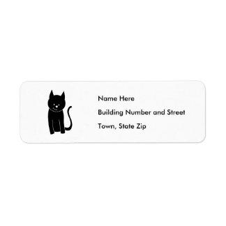 Cute Black Cat Return Address Label