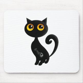 Cute Black Cat Mouse Pad