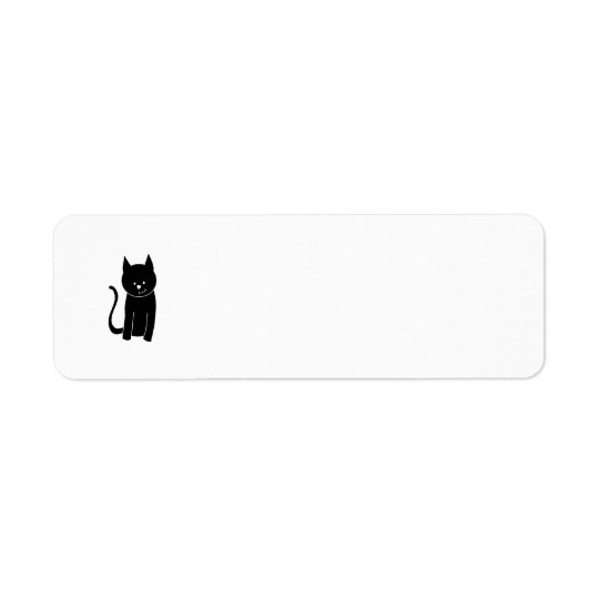Cute Black Cat Return Address Label