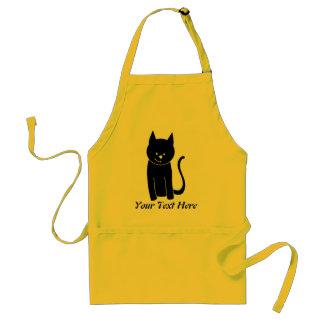 Cute Black Cat Standard Apron