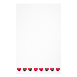 Cute Black Cats In Red Hearts Stationery