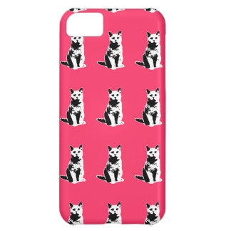 cute black cats patterning iPhone 5C case