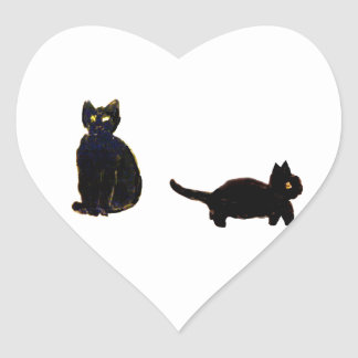 Cute Black Cats Stickers