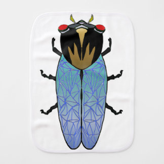 Cute Black Cicada Burp Cloth