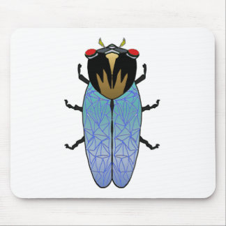 Cute Black Cicada Mouse Pad