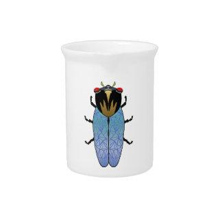 Cute Black Cicada Pitcher