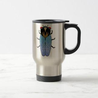 Cute Black Cicada Travel Mug