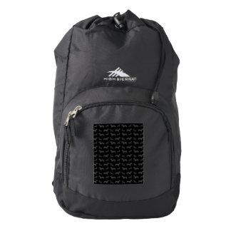 Cute black dachshund pattern backpack
