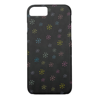 Cute black Flower Doodle Pattern iPhone 8/7 Case