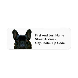 Cute Black French Bulldog Return Address Label