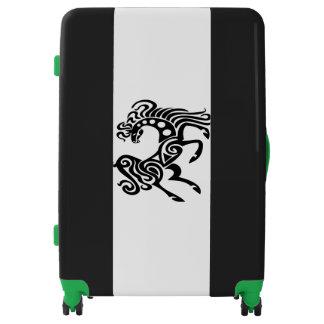 Cute Black Horse Large Sized Luggage Suitcase