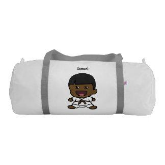 Cute Black Karate Boy Duffel Bag Gym Duffel Bag