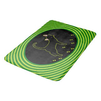 Cute Black Kitty Bath Mat