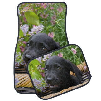 Cute Black Labrador Retriever Dog Puppy Pet Photo Car Mat