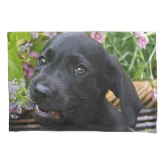 Cute Black Labrador Retriever Dog Puppy Pet Photo Pillowcase