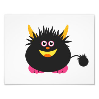 Cute Black Monster Photo Print