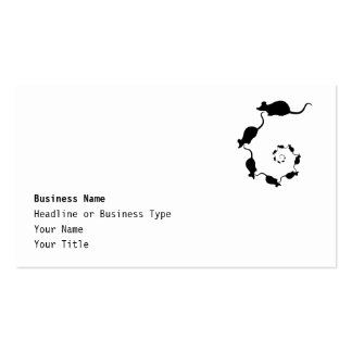 Cute Black Mouse Design. Spiral of Mice. Pack Of Standard Business Cards