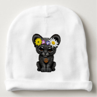 Cute Black Panther Cub Hippie Baby Beanie