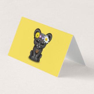 Cute Black Panther Cub Hippie Card