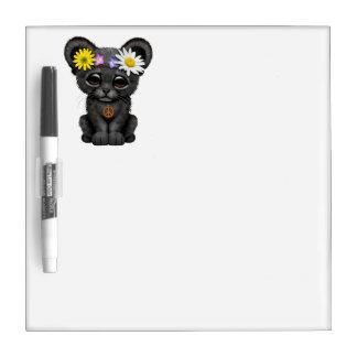 Cute Black Panther Cub Hippie Dry Erase Board