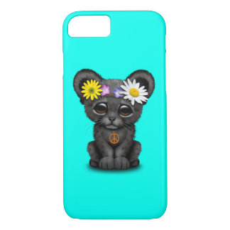 Cute Black Panther Cub Hippie iPhone 8/7 Case