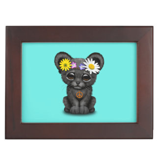 Cute Black Panther Cub Hippie Keepsake Box