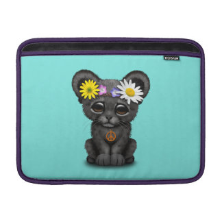 Cute Black Panther Cub Hippie Sleeve For MacBook Air