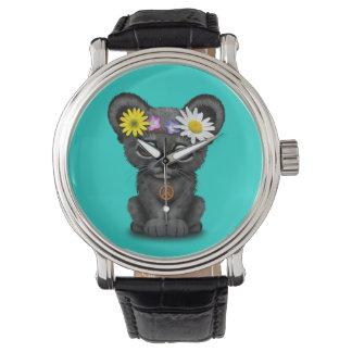 Cute Black Panther Cub Hippie Watch
