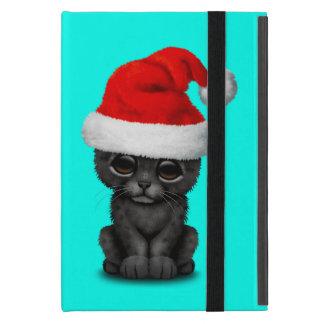Cute Black Panther Cub Wearing a Santa Hat iPad Mini Case