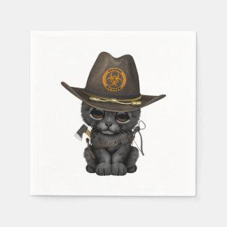 Cute Black Panther Cub Zombie Hunter Disposable Serviette