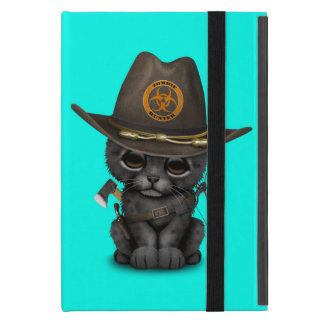 Cute Black Panther Cub Zombie Hunter iPad Mini Cover