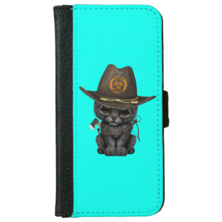 Cute Black Panther Cub Zombie Hunter iPhone 6 Wallet Case