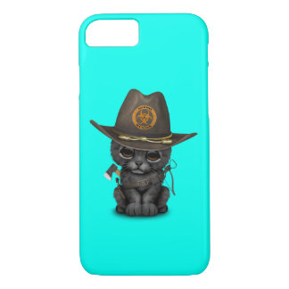 Cute Black Panther Cub Zombie Hunter iPhone 8/7 Case