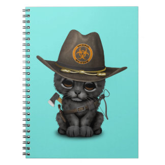 Cute Black Panther Cub Zombie Hunter Notebook
